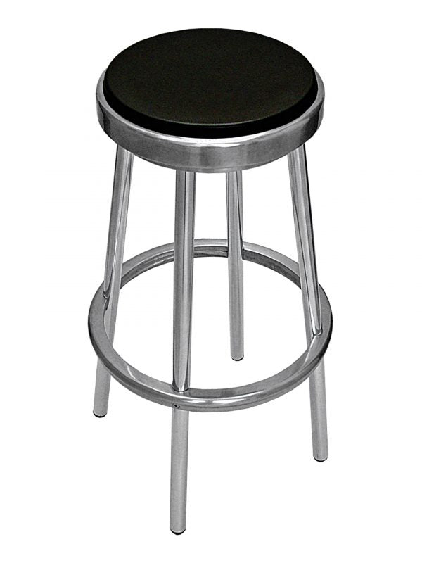 Aluminum Frame Backless Barstool w/ Foam Seat, Tuscana Series