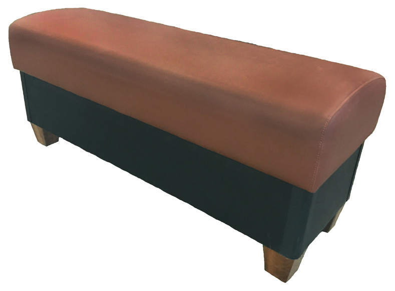 Briar Springless Seat Bench w/ Wooden Legs