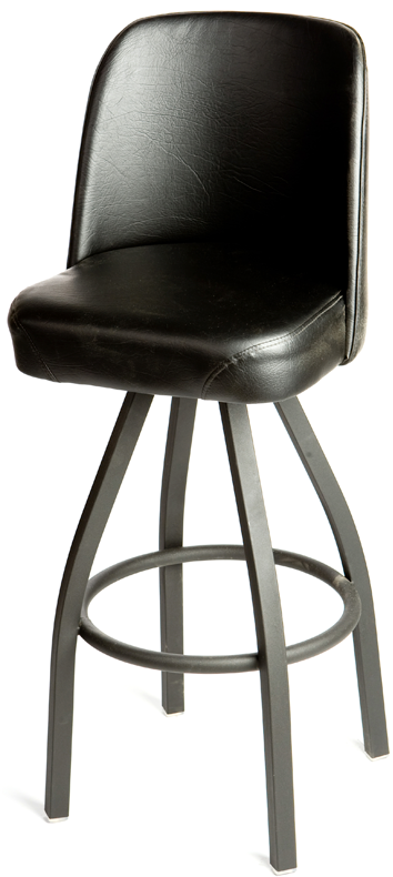 Bucket Black Powder Coat Swivel Barstool