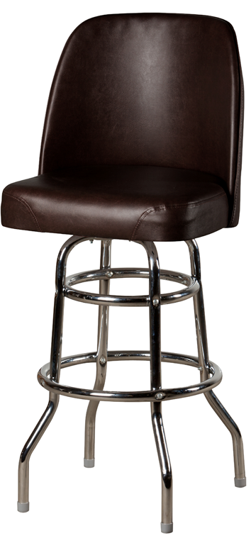 Bucket Double Rung Swivel Barstool