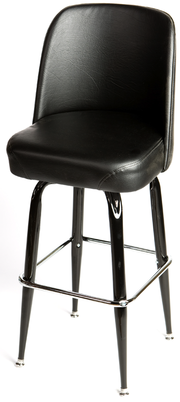 Bucket Square Gloss Black Frame Barstool