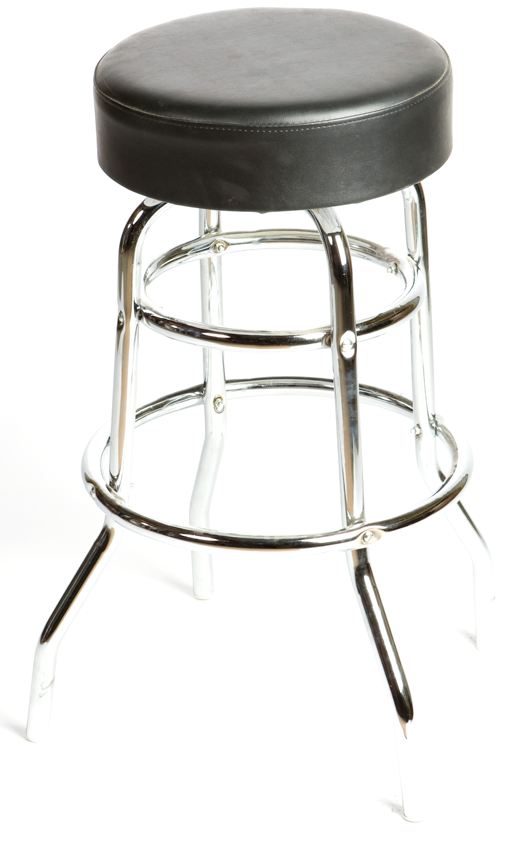 Button Top Swivel Double Rung Barstool
