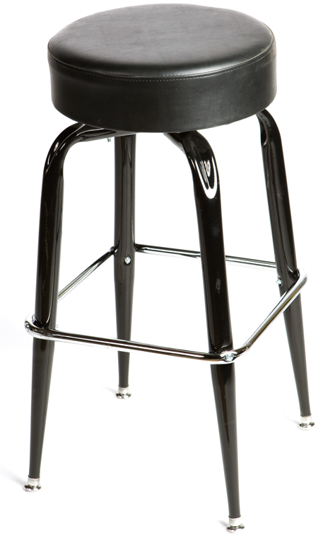 Button Top Swivel Square Frame Barstool