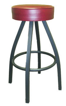 Button Top Swivel Counter Height Barstool