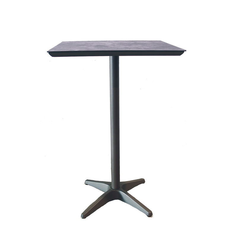 "Sunset Bar Height  28"" Square Aluminum Outdoor Table"
