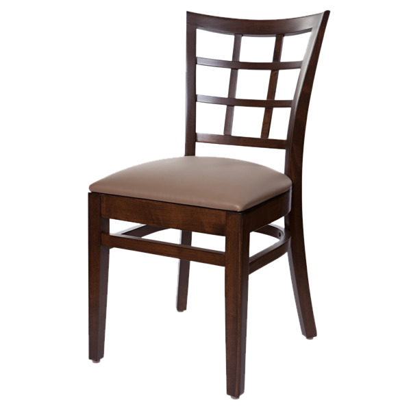 Classic style Lattice Back Cheshire Side Chair With Upholstered Seat OD342US