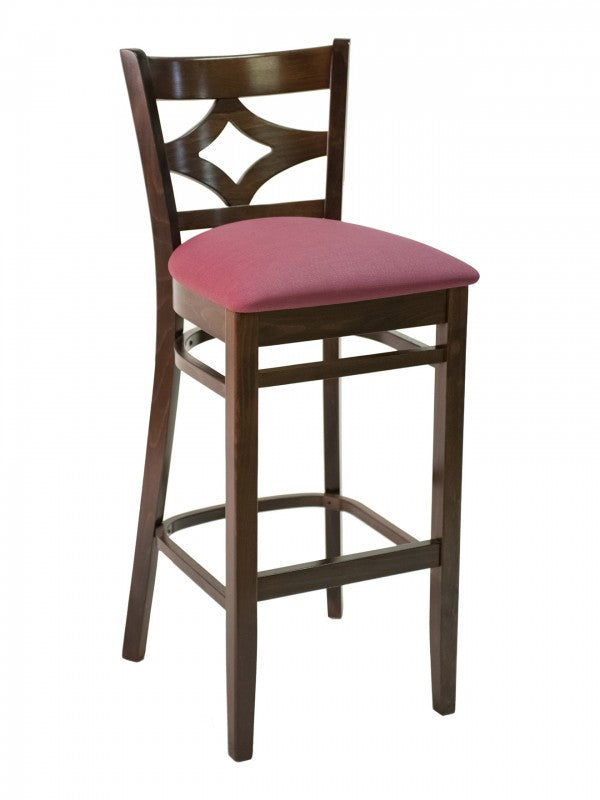 Beechwood Diamond Back Bar Height Chair, FLSCON02B