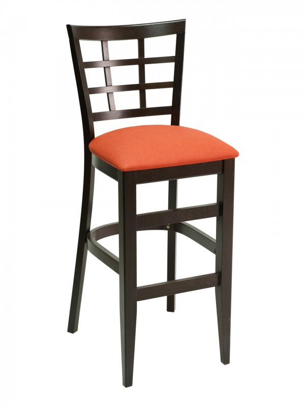 Beechwood Lattice Back Bar Height Chair, FLSCON03B