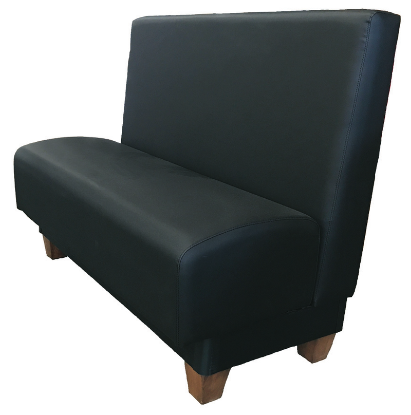 Edinburg Updated Pillow Back Booth w/ Wooden Legs
