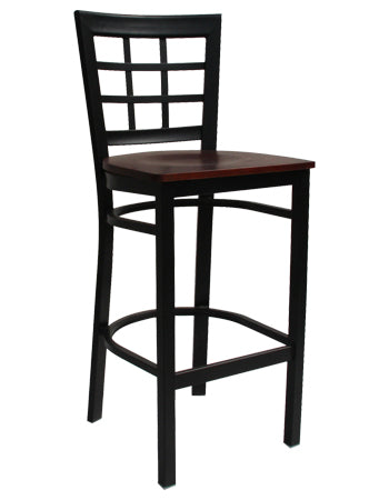 Lattice Back Metal Barstool, ERF-133BS/BSS