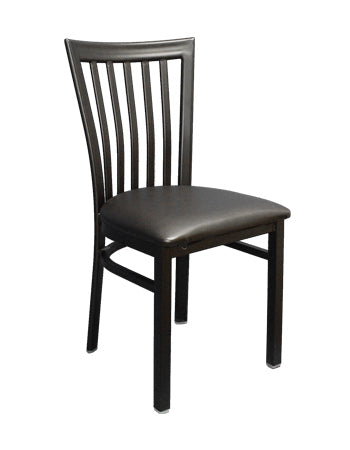 Elongated vertical metal Chair, ERF-134