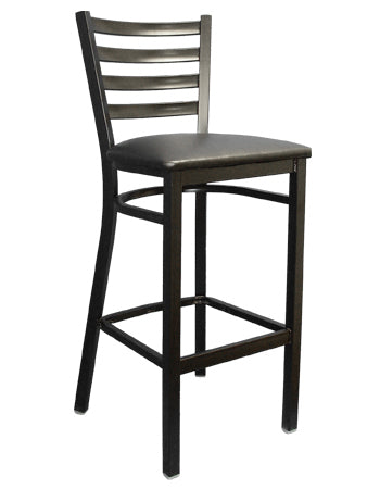 Ladder Back Finish Metal Barstool, ERF-135BS/BSS