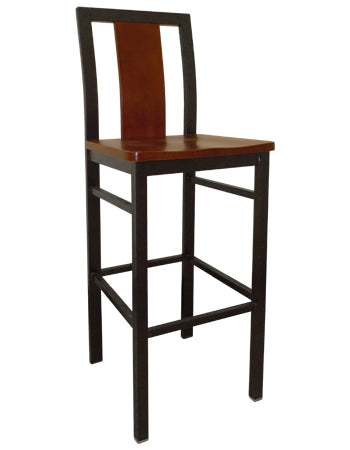 Center Slat Metal Barstool, ERF-140-BS