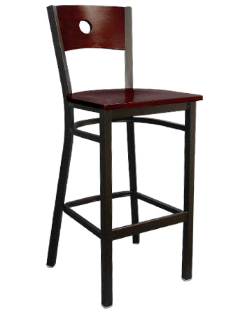 Black Metal Finish Barstool