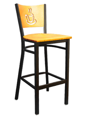 Coffee Cup Metal Barstool, ERF-167-BS