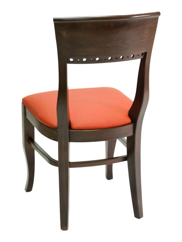 Beechwood Classic Solid Half Back Chair w/ Upholstered Seat, FLS06S