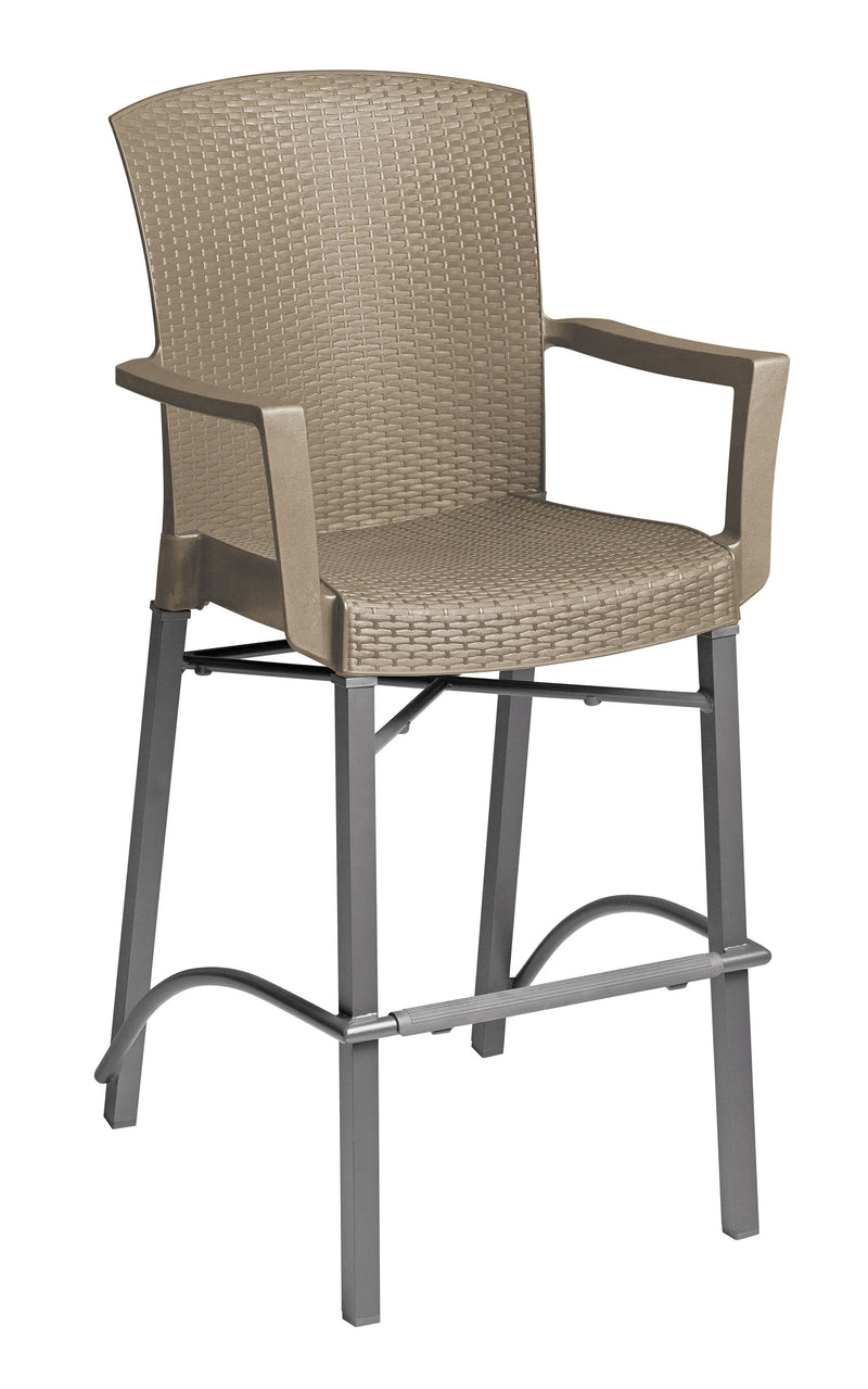 Havana Classic Barstool w/ Arms Taupe
