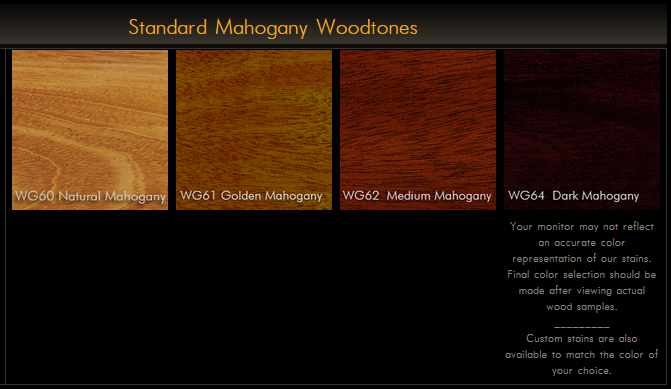 2625 Series Elegant Mahogany Plank Table Top
