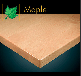 2025 Series Contemporary Maple Plank Table Top