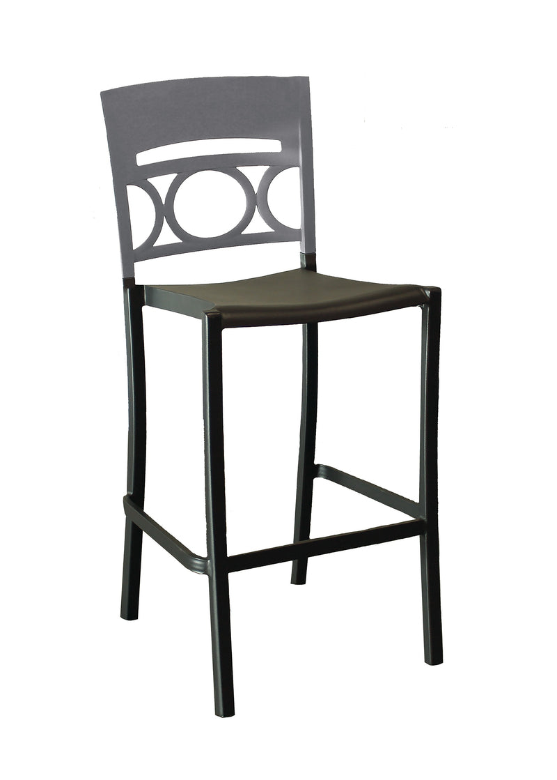 Moon Stacking Barstool w/ Low Backrest