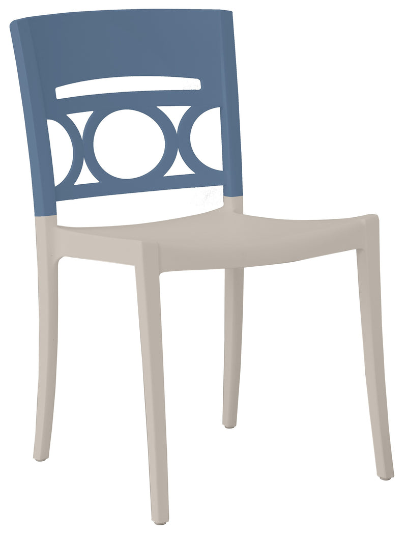 Moon Stacking Sidechair w/ Low Backrest