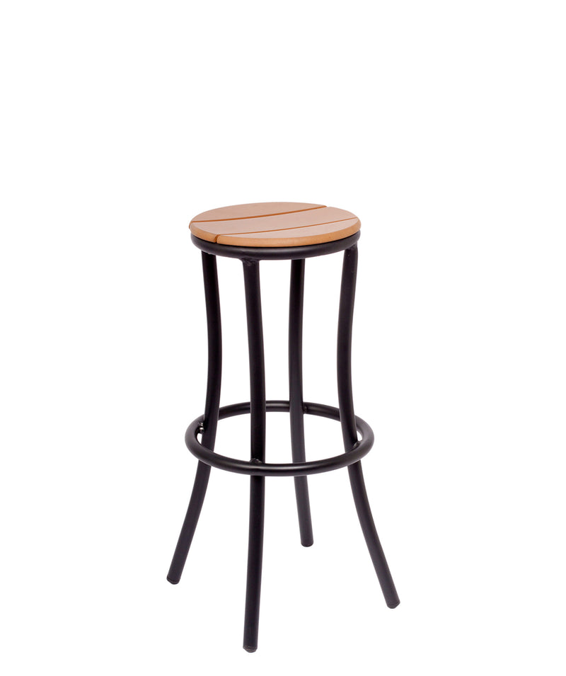 Norden Outdoor Backless Barstool, MS6074STK