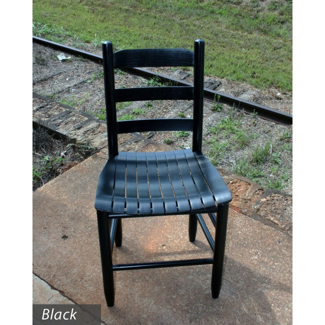 Black Davidson Chair w/ Wood Slat Curved Seat