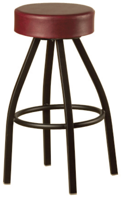 Button Top Swivel Powder Coated Barstool