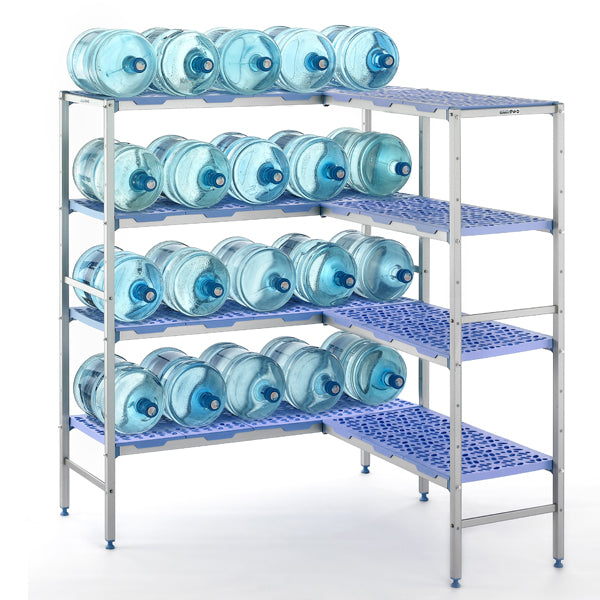 Tournus shelving with sotred bottles