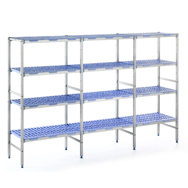 Tournus stationary unit with extentions / add-ons shelving