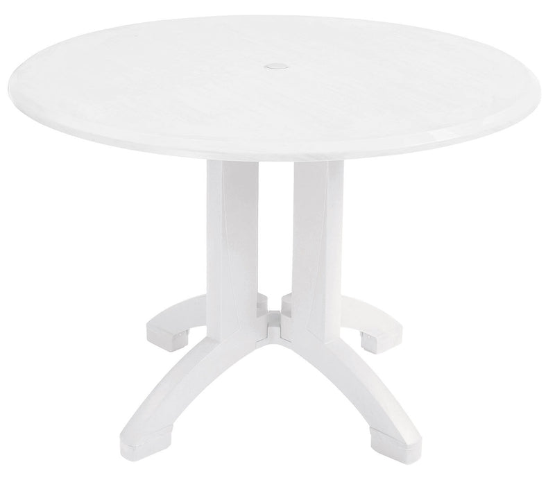 "Atlanta 42"" Outdoor Round Table w/ 4-Prong Pedestal Base"
