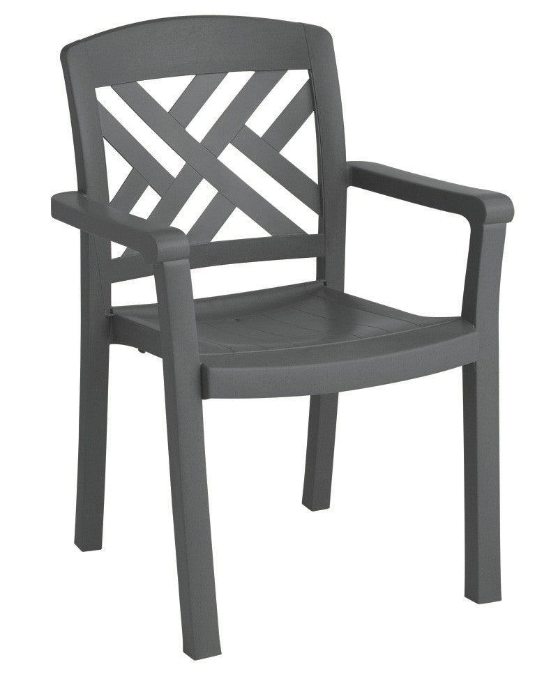 Sanibel Stacking Dining Armchair Charcoal