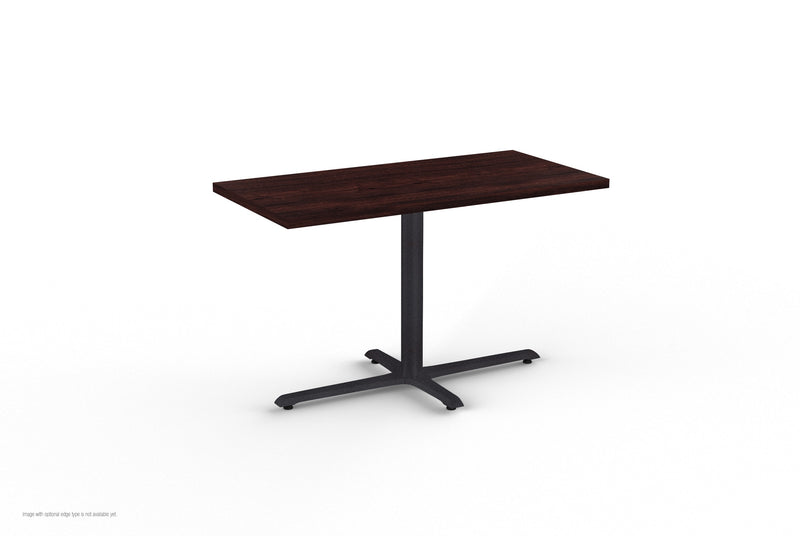 Quickship StarX Series Laminate Table with Cast Iron Base