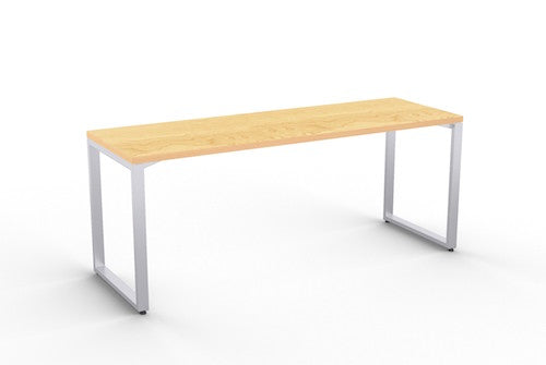 structure maple laminate table w/ square metal base
