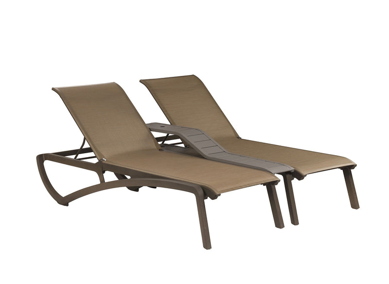 Sunset Duo Stacking Chaise w/ Center Console