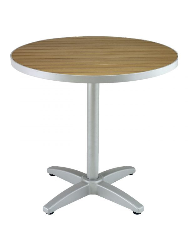 Teak Outdoor Round Table Top with Aluminum Edge, FLS-TAPT