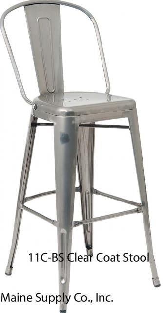 E11C-BS Clear Coat Steel Barstool