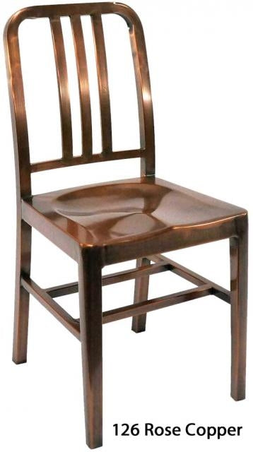 E126 Steel Chair Rose Copper Finish