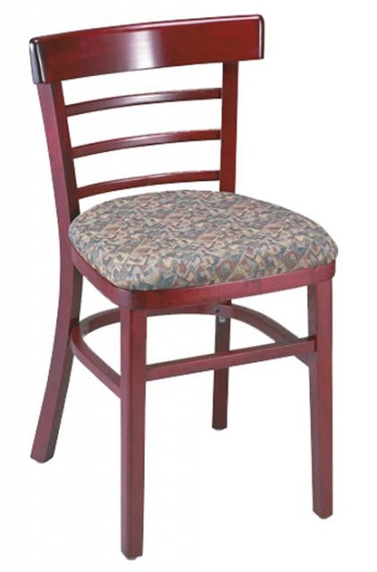 2GA1105PSRFD Wood Ladderback Restaurant Chair