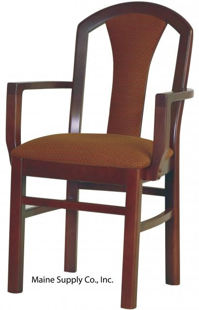 OD224USBRFD Cabaret Arm Chair With Upholstered Seat & Back