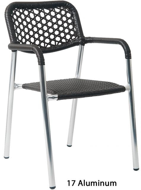 E17 Wicker Aluminum Chair