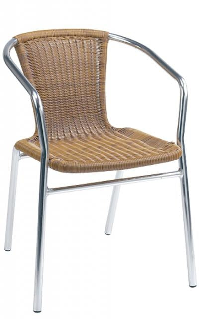 GA725RFD Aluminum Chair with Nylon Wicker