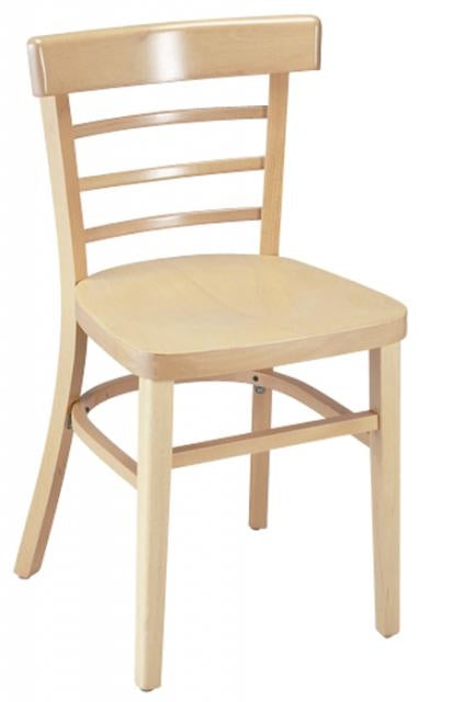 2GA1105VSRFD Wood Ladderback Restaurant Chair