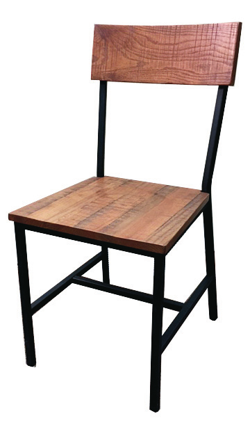 Timber Distressed Wood Barstool