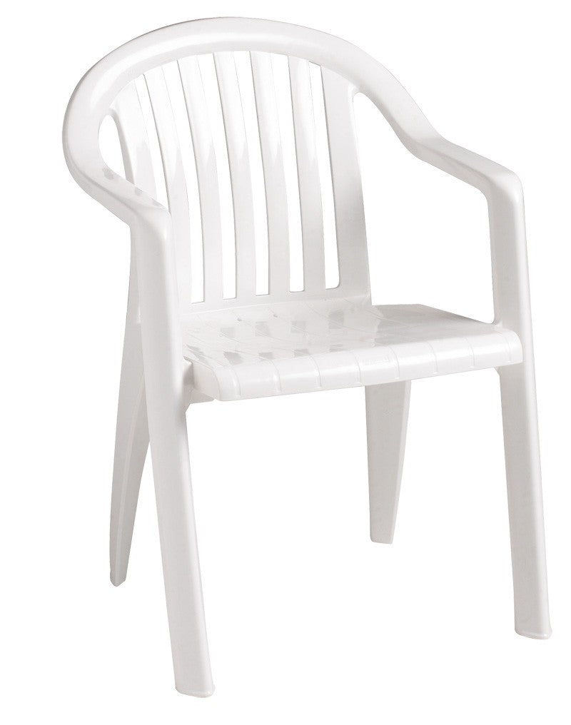 Miami Lowback Stacking Armchair White