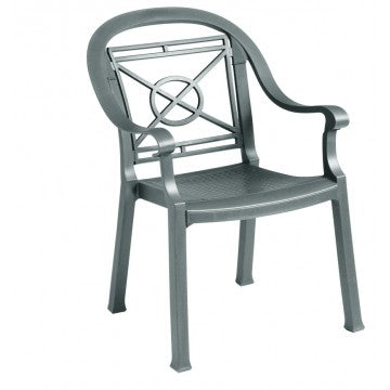 Victoria Classic Stacking Armchair Charcoal