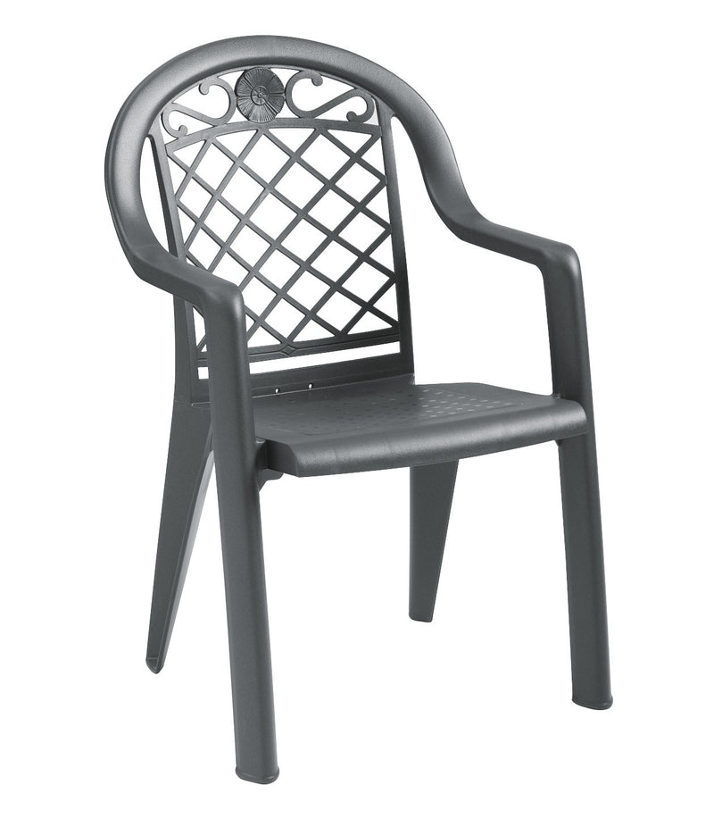 Savannah  Highback Stacking Outdoor Armchair