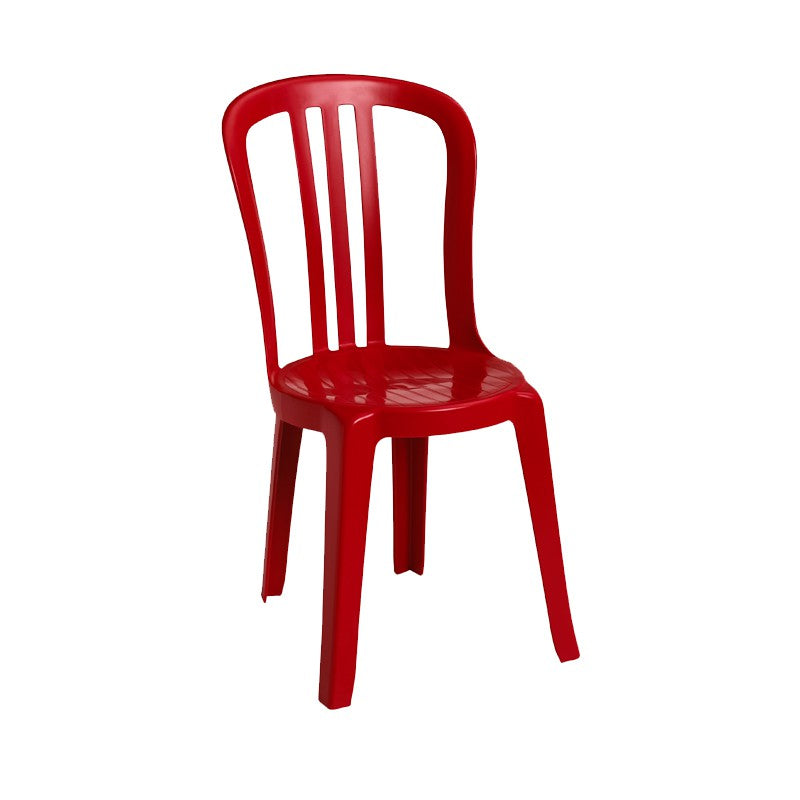 Miami Bistro Stacking Sidechair Red