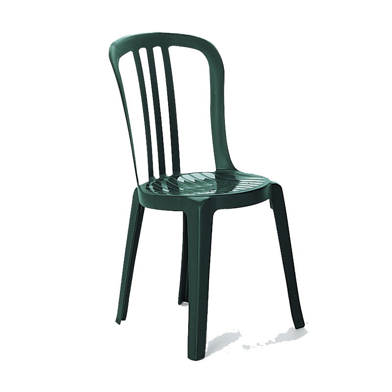 Miami Bistro Stacking Sidechair Amazon Green