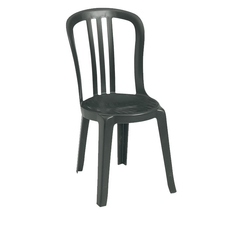 Miami Bistro Stacking Sidechair Charcoal